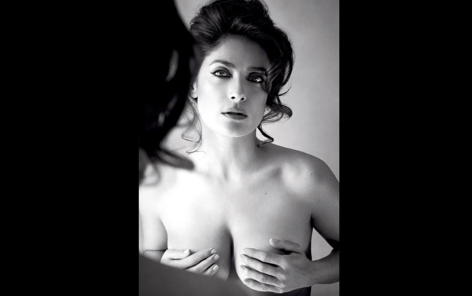 Salma hayek topless think, what