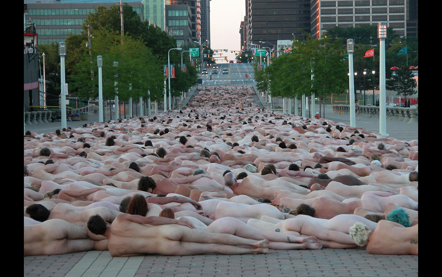 Spencer Tunick nackt Fotos